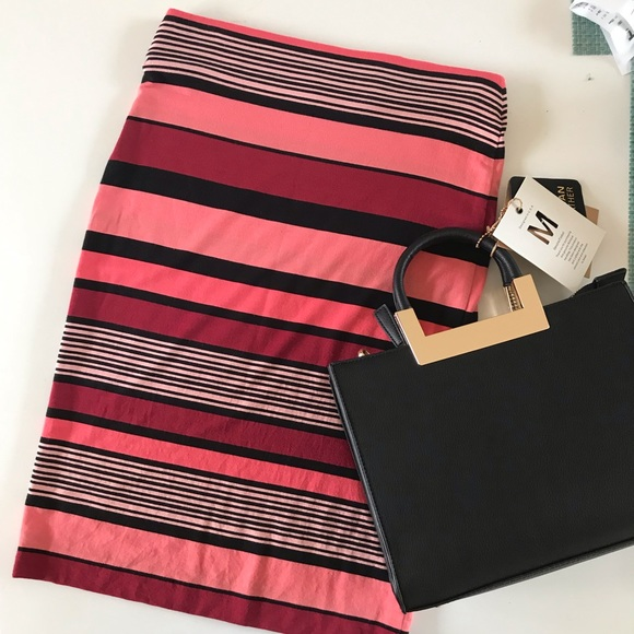 LOFT Dresses & Skirts - {LOFT} Color Block/stripe skirt, XXS